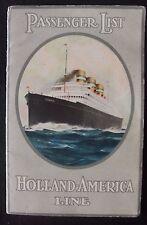 RARE 1934 Holland-America Line SS Rotterdam Cruise Ship Passenger List Booklet