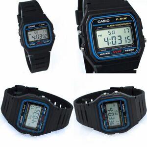 Casio F-91W-Men's Resin Digital Watch With alarm= 12 month's WARRANTY