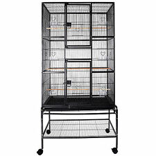 "69"" Large Bird Cage Parrot Finch Macaw Cockatoo Canary Pet Supplies Perch Grate"
