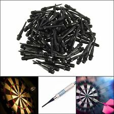 100 pcs 27mm Darts Soft Tips Points Plastic Thread 4.5mm Black Indoor Party Game