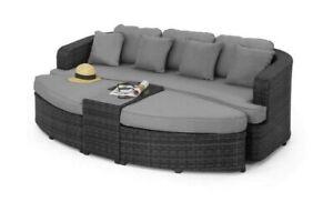 NEW Grey Maze Rattan Toronto Outdoor Daybed Garden Furniture - CTR C74