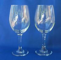 Set of two Red Wine Glasses from Italy Heavy Glass