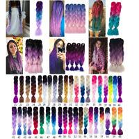 Braiding Hair one piece Kanekalon Hair Extension Jumbo braids 24 inch 100g/pack