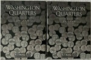 *SALE* Vol Washington Quarter Coin Folder I /& II 1999-2008 BOTH VOLUMES