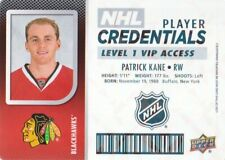2017-18 Upper Deck MVP NHL Player Credentials Patrick Kane - Chicago Blackhawks
