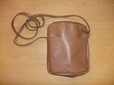 "Ladies Handbag Osprey Cross Body brown 7.5x8x2""+ strap 56"", leather 3432"