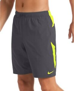 "Nike Men's Water-Repellent Colorblock 9"" Swim Trunks, Gray, Size XL, $52, NwT"