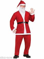 Comical FUNNY SANTA men's fancy dress costume with beard and hat bar hopping