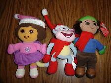 Dora the Explorer Holiday Plush Gift Set: Dora, Diego a