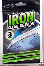 3 PACK FAST ACTION IRON CLEANER CLEANING PADS NEW