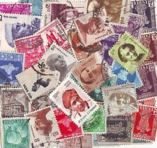 India Off Paper Kiloware 5000 Definitive Small & Large Used Stamps Mixture