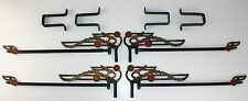 4 Art Deco Nouveau Swing Arm Drapery Curtain Rods Extensions & Mounting Brackets