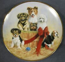 Basket Of Cheer Collector Plate Aspca Jim Killen Dogs Puppies Franklin Mint
