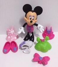 Fisher Price Disney Minnie Mouse Snap & Style Figure with Dresses/ Accessories