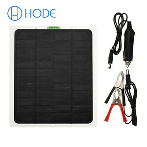 20W 12V Car Boat Yacht Solar Panel Trickle Battery Charger Power Supply UK