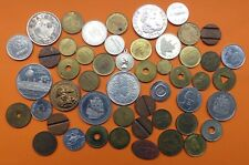Lot mit 50 Medaillen-Wertmarken-Jetons-usw.