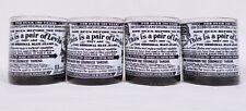 New listing 4 Black Levi Strauss & Co Rock Highball Scotch Tumblers Glasses Man Cave