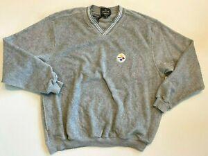 Steelers Sweatshirt Men's Large New NFL Football Fleece Crew Neck Pullover