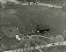 1950s Aerial Photo Midwestern Farmstead, American Sky Views, Chicago, 8x10""