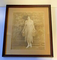 Large Framed Photograph of Beautiful Woman; B&W; 1920's to 1930's; Lot #2