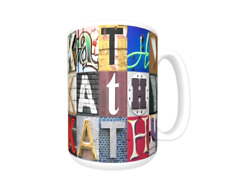 Kathy Coffee Mug / Cup featuring the name in photos of sign letters