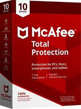 McAfee TOTAL PROTECTION 2018/2017-1Year Subscription-10 Devices(PC/MAC/AND/iOS)