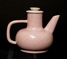 VINTAGE A.C. DAVEY PINK SPECKLED CALIFORNIA CALI COFFEE / TEAPOT WITH ORIG. TAG
