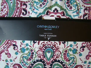 Cynthia Rowley 18 x 80 Tassel Table Runner 100% Cotton