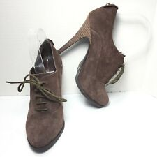 Women's Chinese Laundry Brown Faux Suede High Heel Bootie Shootie Size 7 M
