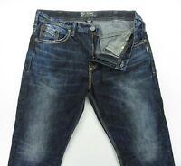 SILVER  GORDIE Taper Leg Whiskered wash men's jeans size 36 / inseam 32