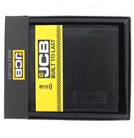 JCB BOXED GENUINE LEATHER WALLET NOTES COINS CREDIT CARDS BLACK QUALITY