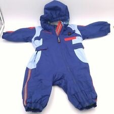 f82ffdeb2 Infant 12 Month Columbia Snow Suit - Blue Shell Lined with Penguin Fleece  EUC!