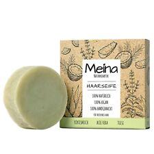 Meina Naturkosmetik - Bio Haarseife mit Aloe Vera, Shampoo Bar, Vegan, 80g