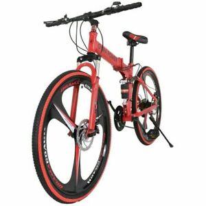"""Mountain Bike Full Suspension Shimano Brake 21 Speed Bikes MTB 26"""" Bicycle"""