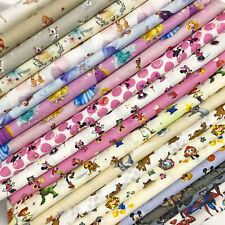 Disney Fabric 100% Cotton Characters Princess Winnie Toy Story Heros 140cm wide!