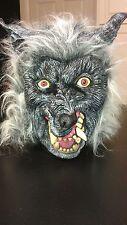Gray Grey Werewolf Were Wolf Fang Fox Halloween Mask