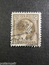 LUXEMBOURG, 1926-28, timbre CLASSIQUE 176, G D CHARLOTTE oblitéré, VF used stamp
