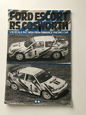 Original Tamiya RC Instruction Manual - Ford Escort RS Cosworth Kit 58112 1992