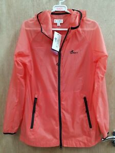 NEW ** TOTTIE ** PACK A WAY  THIN LADIES SIZE 12 SHOWER RESISTANT RIDING JACKET