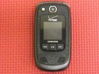Samsung Convoy 2 SCH-U660 Black/Gray Verizon Wireless Flip Cell Phone *Tested*