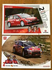 DANIEL SORDO MARC MARTI CITREON 2007 & 2008 WRC OFFICIAL PHOTOCARDS