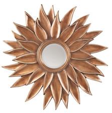 """40"""" Mid Century Modern Antique Gold XL Sunburst Starburst Round Mirror"""
