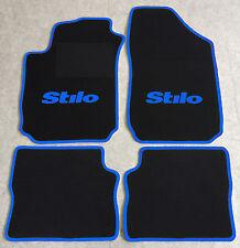 Autoteppich Fußmatten für Fiat Stilo 2001'-2007' schwarz blau 4teilig Neuware