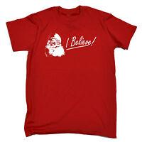 I Believe T-SHIRT Santa Claus Tee Funny Present Xmas Christmas birthday gift