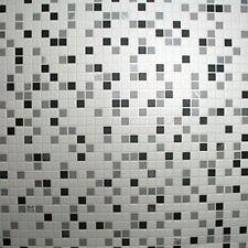 Graham & Brown Hi Contour Checker Tiles Foiled Wallpaper Black
