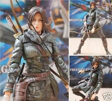 "Rise of the Tomb Raider Play Arts Kai Lara Croft 10"" PVC Statue Action Figure"