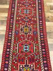 """2'2""""x9'5"""" Authentic Antique Handmade wool Birds Herizz Karajeh area rug runner"""