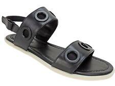 ATELJE 71 Women's Farine 2 Band Sandals Black Vachetta Size US 8M/EU 39
