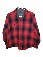 Woolrich Mens Long Sleeve Button Down Plaid Flannel Shirt Red Black Size XL