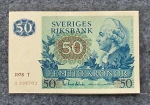SWEDEN 50 KRONOR 1978 UNC